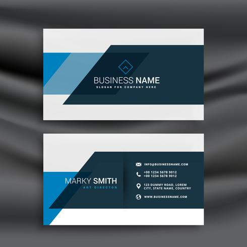 modern blue business identity template