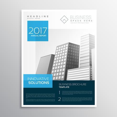 folheto de design moderno elegante azul brochura cataglog