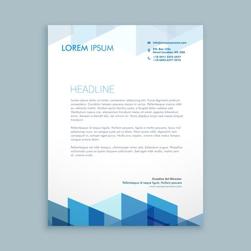 modern letterhead business template vector design illustration