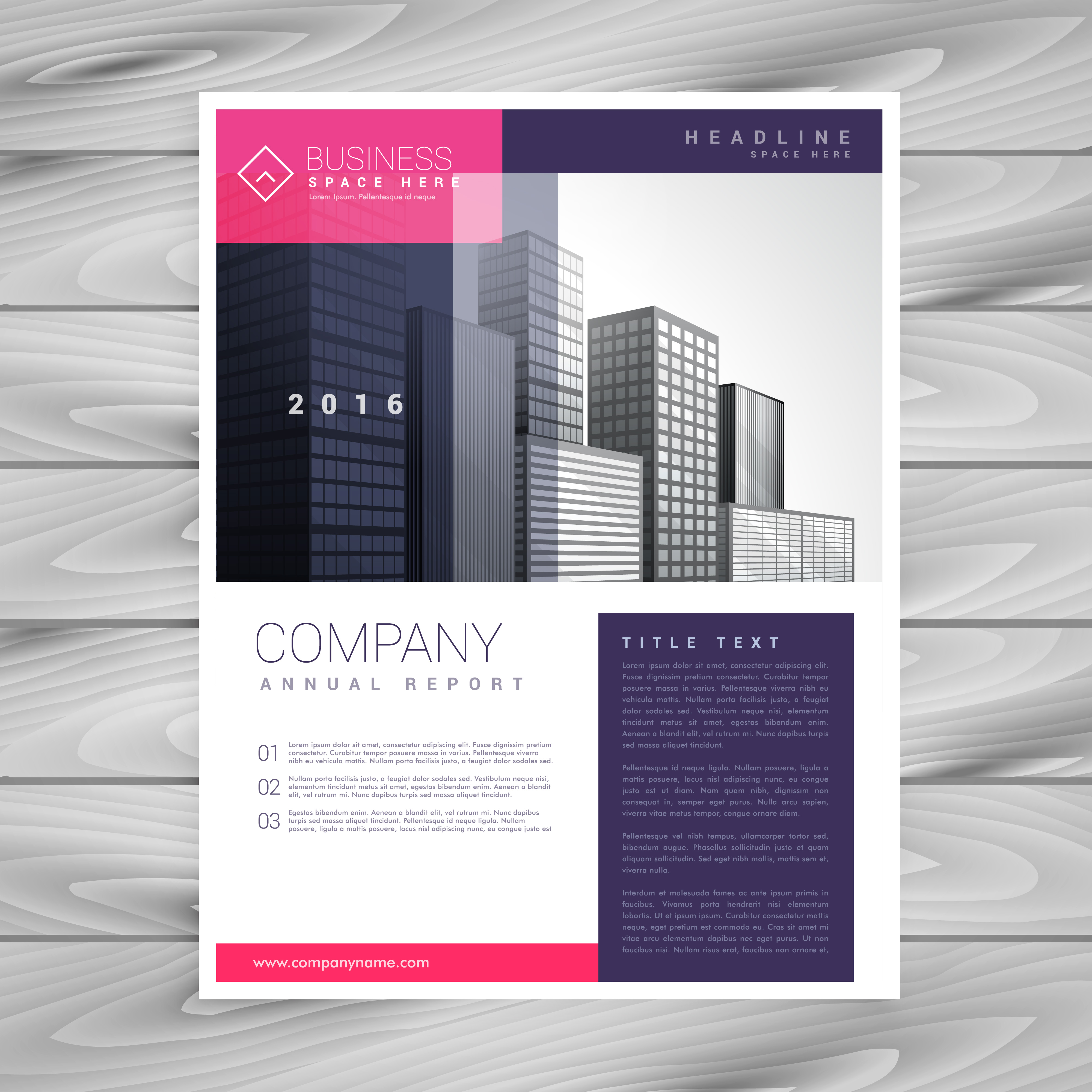 Trendy magazine layout brochure flyer design a4 template for Design brochure template