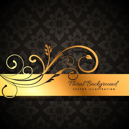 premium golden floral background