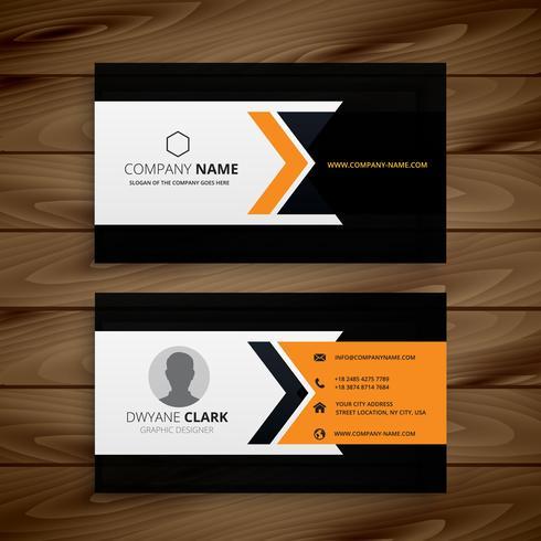dark corporate business card vector design illustration