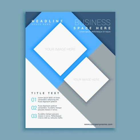 Blue corporate business annual report flyer brochure design leaf