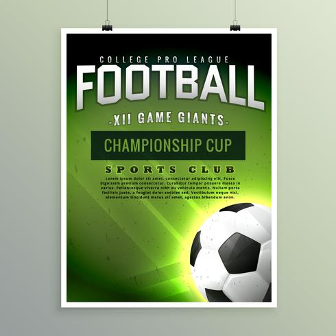 football sports championship game flyer template