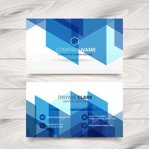 modèle de carte de visite style abstrait bleu
