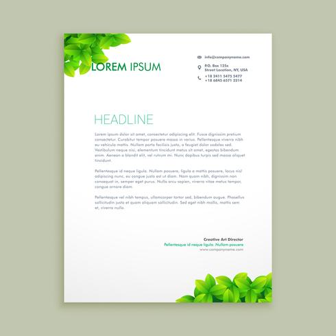 Eco green leaf letterhead template vector design illustration eco green leaf letterhead template vector design illustration spiritdancerdesigns Choice Image