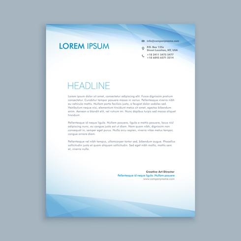business letterhead layout template vector design illustration