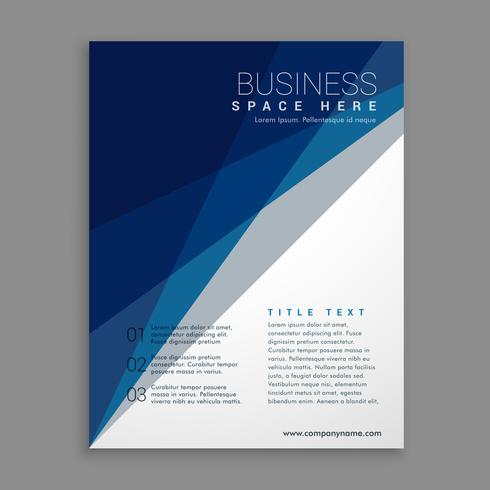 modern geometric business brochure in blue and white