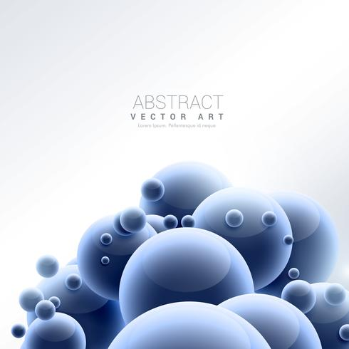 abstrakter blauer Kugelmolekülhintergrund