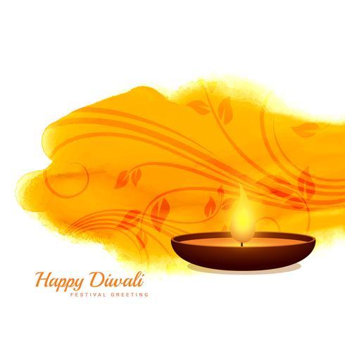 happy diwali diya vector background design