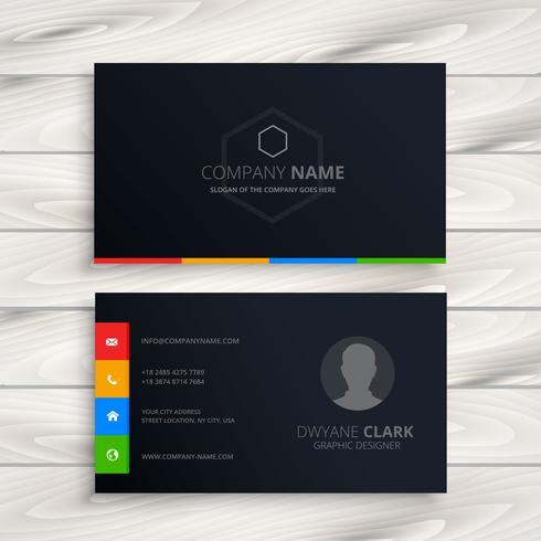 black business card template vector design illustration