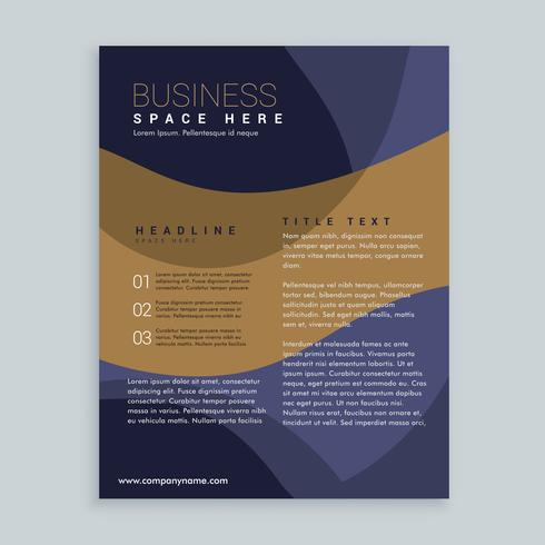stylish brown and blue brochure flyer design in A4 size
