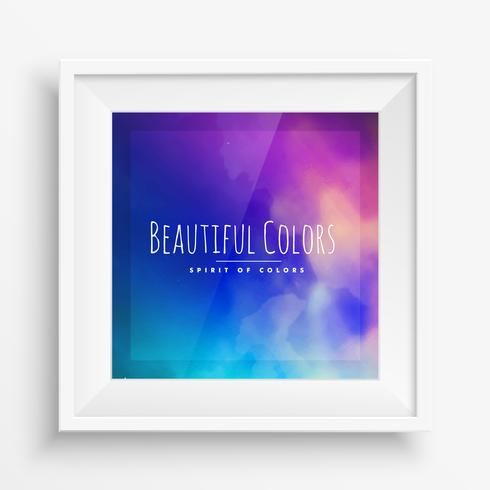 colorful poster wall frame