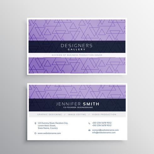 awesome triangle pattern business card design