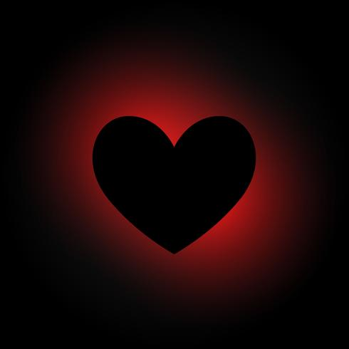 heart shape in dark background