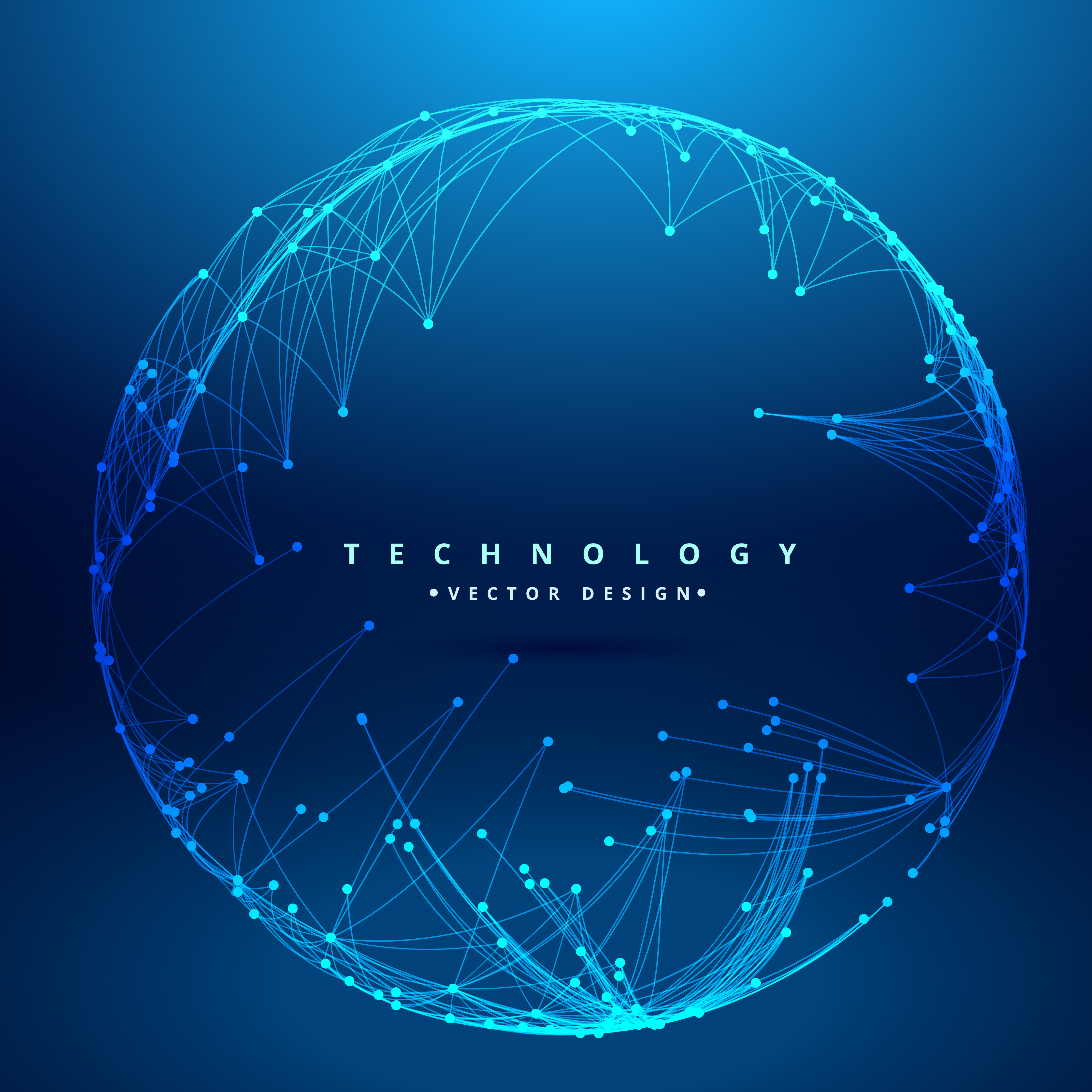 Technology Background With Circular Mesh Download Free