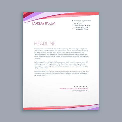 Modern Colorful Letterhead Template Vector Design Illustration