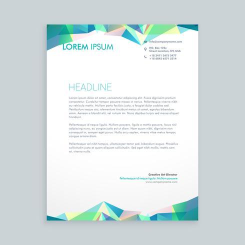 creative abstract shapes letterhead  template vector design illu