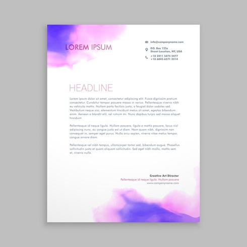 flowing ink corporate letterhead brochure template vector design