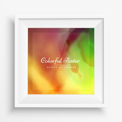 abstract colorful paint poster