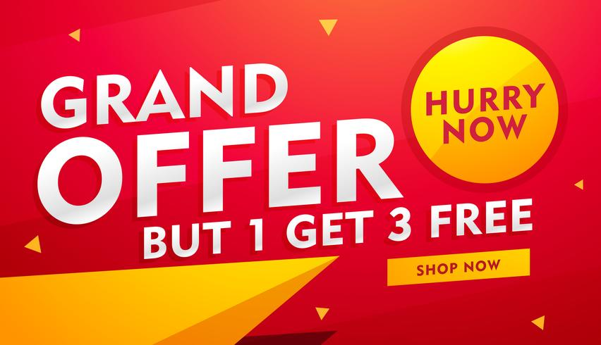 stylish vector banner design with offer details for advertising