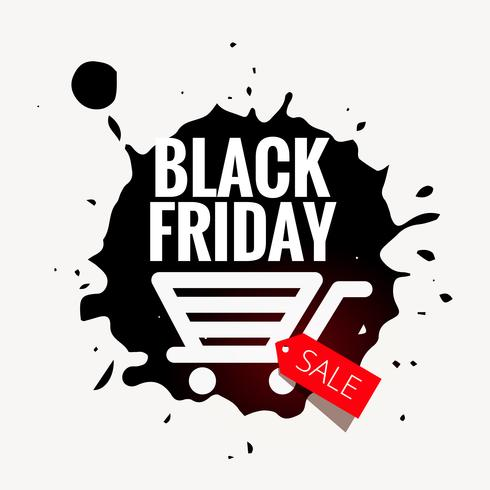 black friday sale design in grunge style