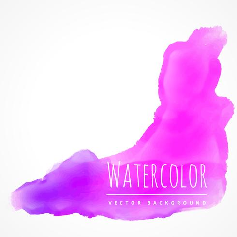 watercolor stain in pink color vector design illustration