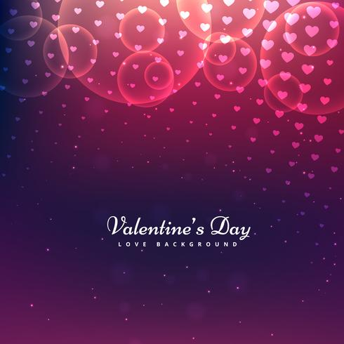 shiny valentines day background vector design illustration