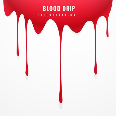 red blood drip