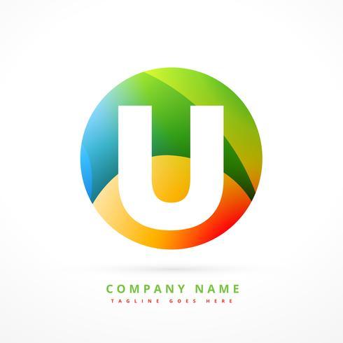 modello di progettazione di forma logo astratto colorato