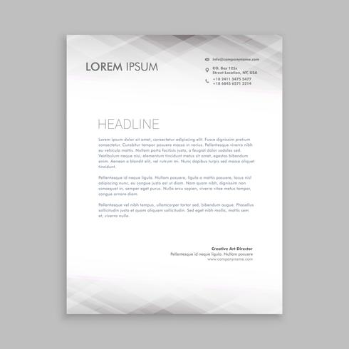 minimal white letterhead  template vector design illustration