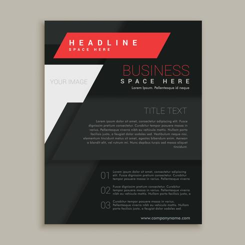 black vector brochure design template
