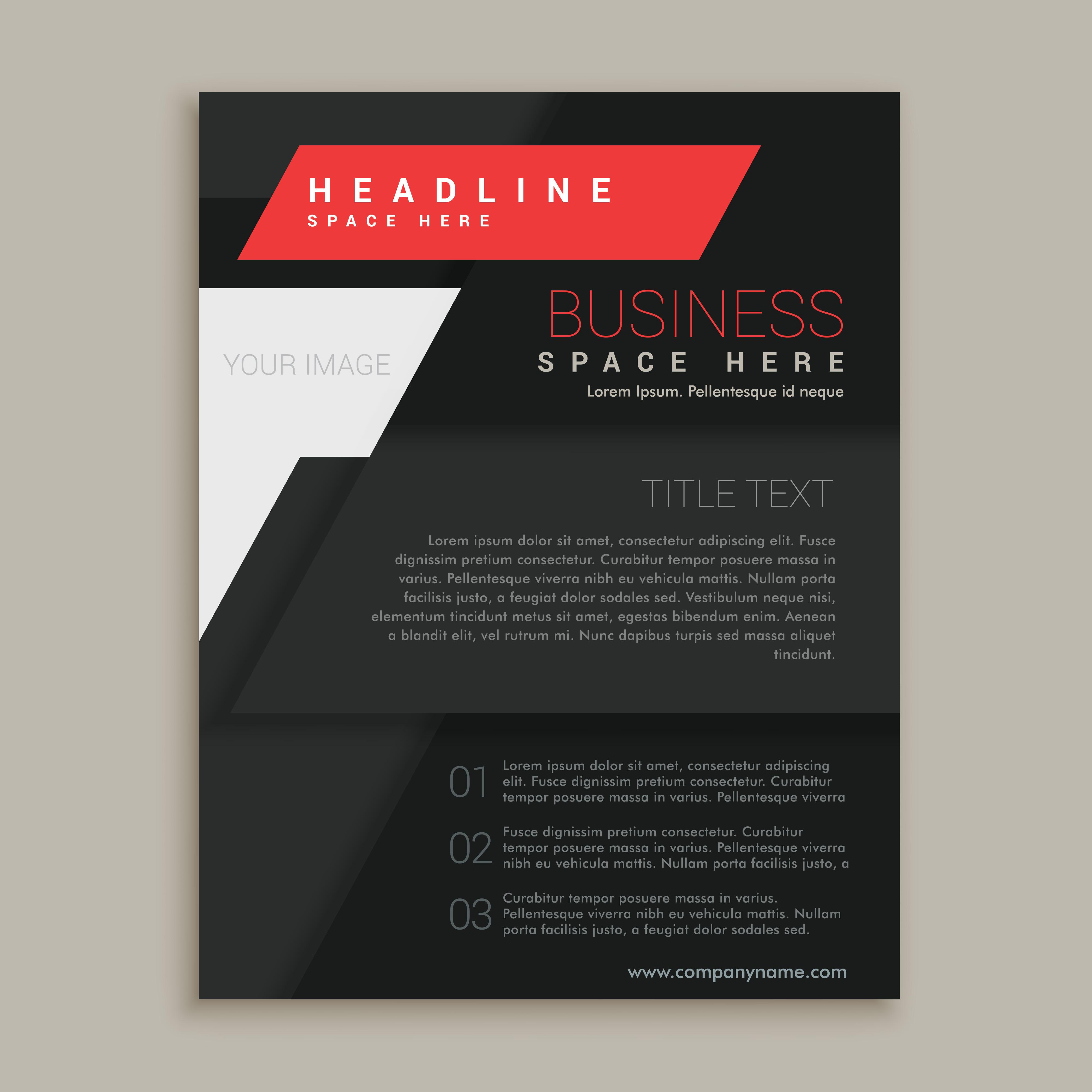 black brochure template - black vector brochure design template descargue gr ficos