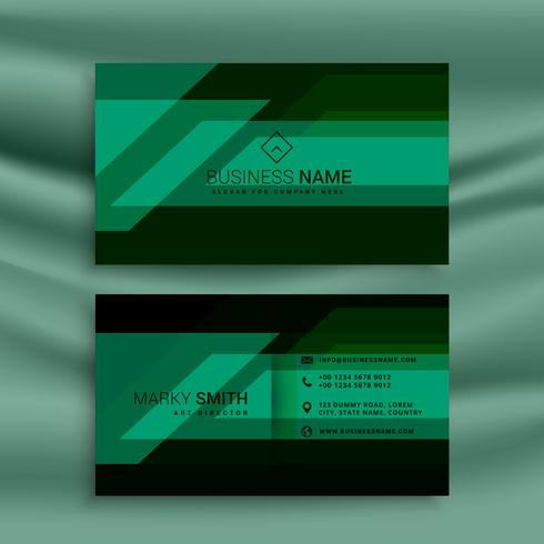 Green and black business card design template download free vector green and black business card design template friedricerecipe Images