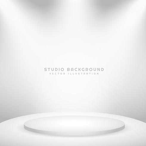 white studio background with podium