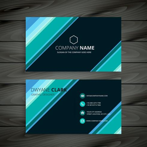 modern corporate business card  template vector design illustrat