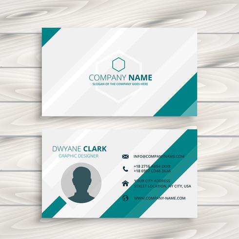 elegant clean business card template vector design illustration