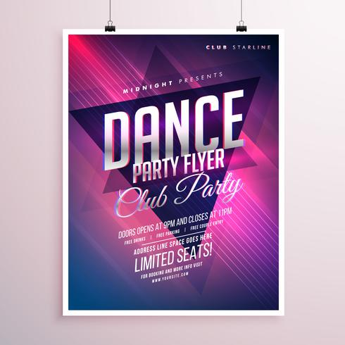 Dance Club Party Flyer Template  Download Free Vector Art Stock
