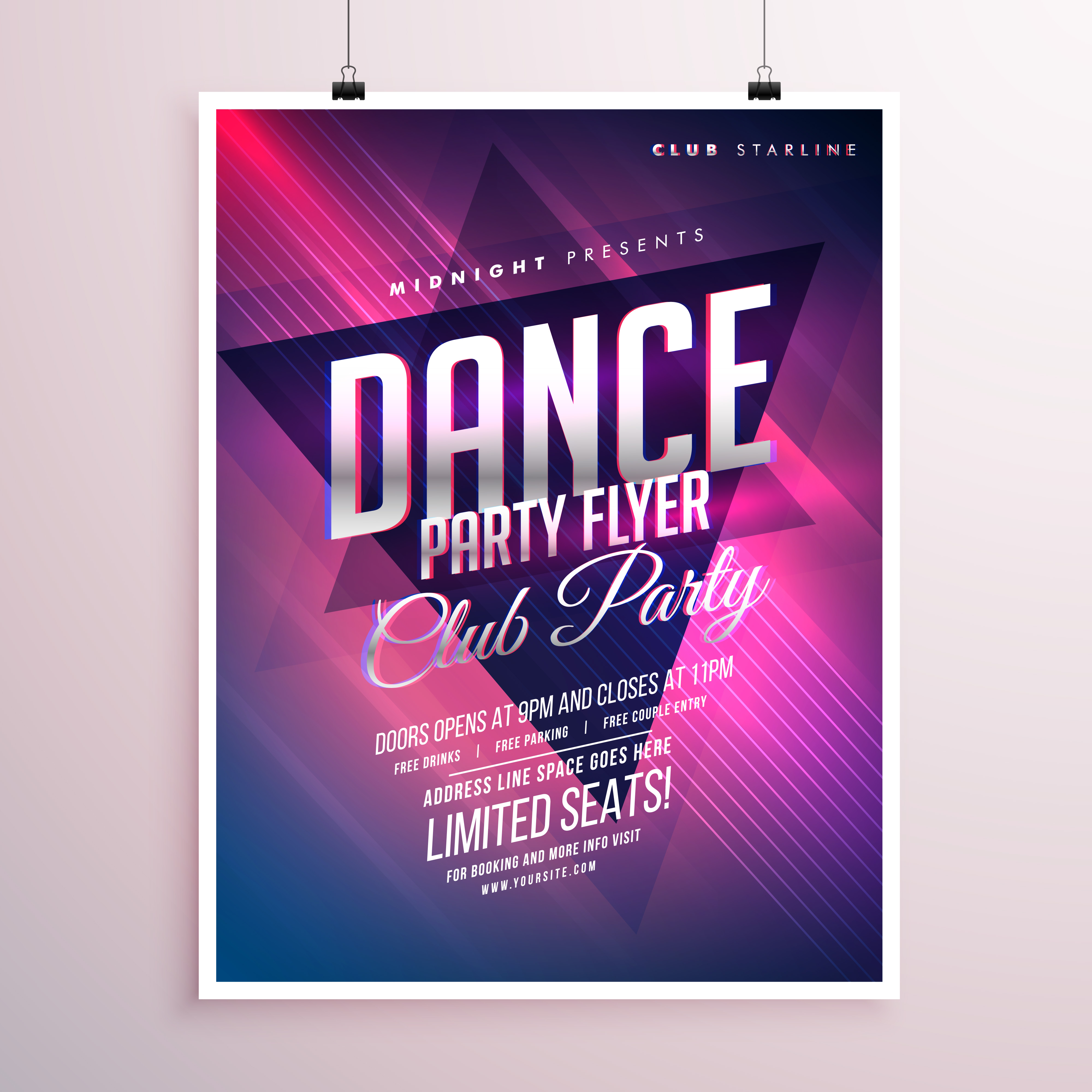 Party Flyer Design | Party Flyer Free Vector Art 10385 Free Downloads