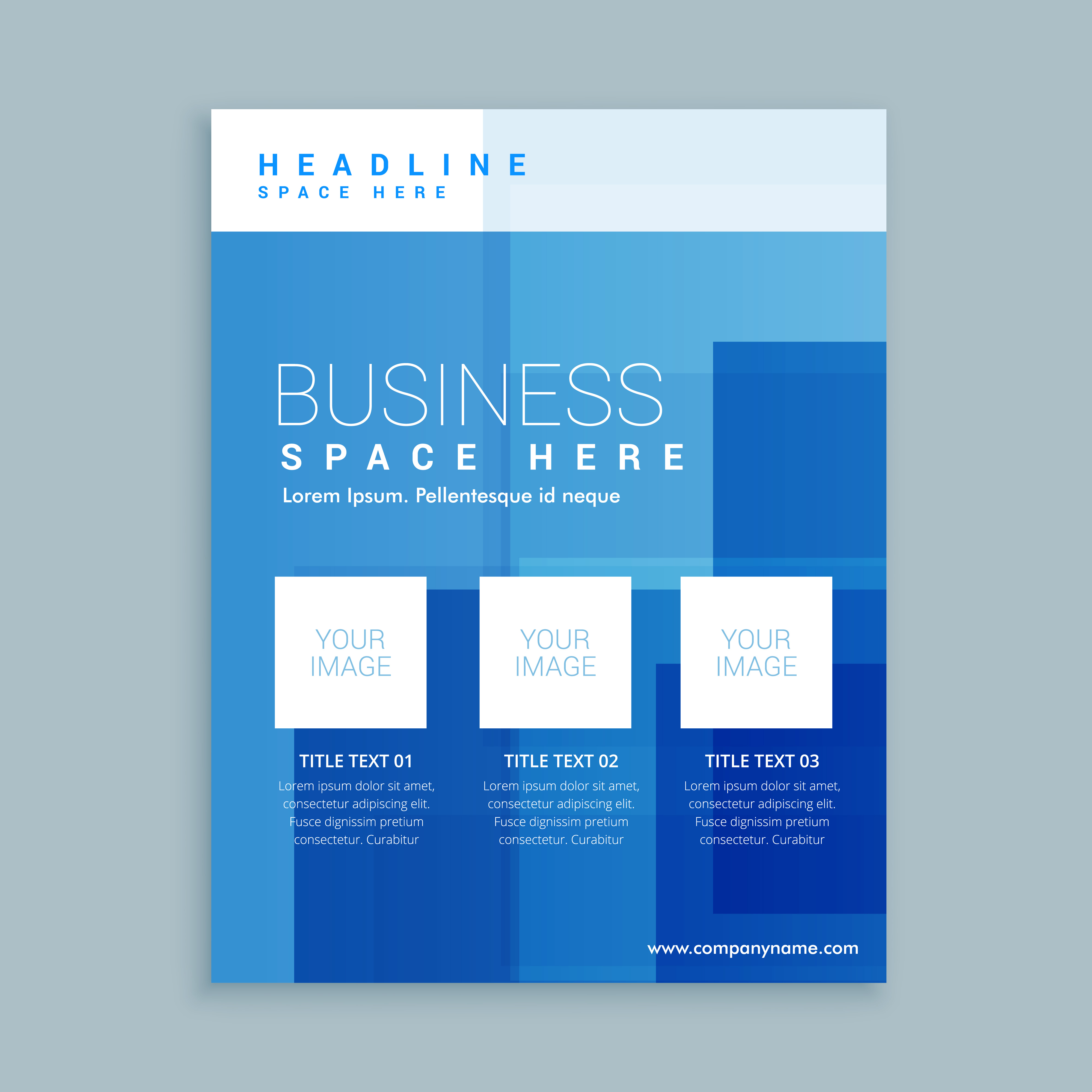 Business marketing flyer brochure template download free for Marketing brochures templates