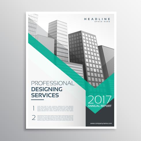 professional brochure or leaflet template design with buildings