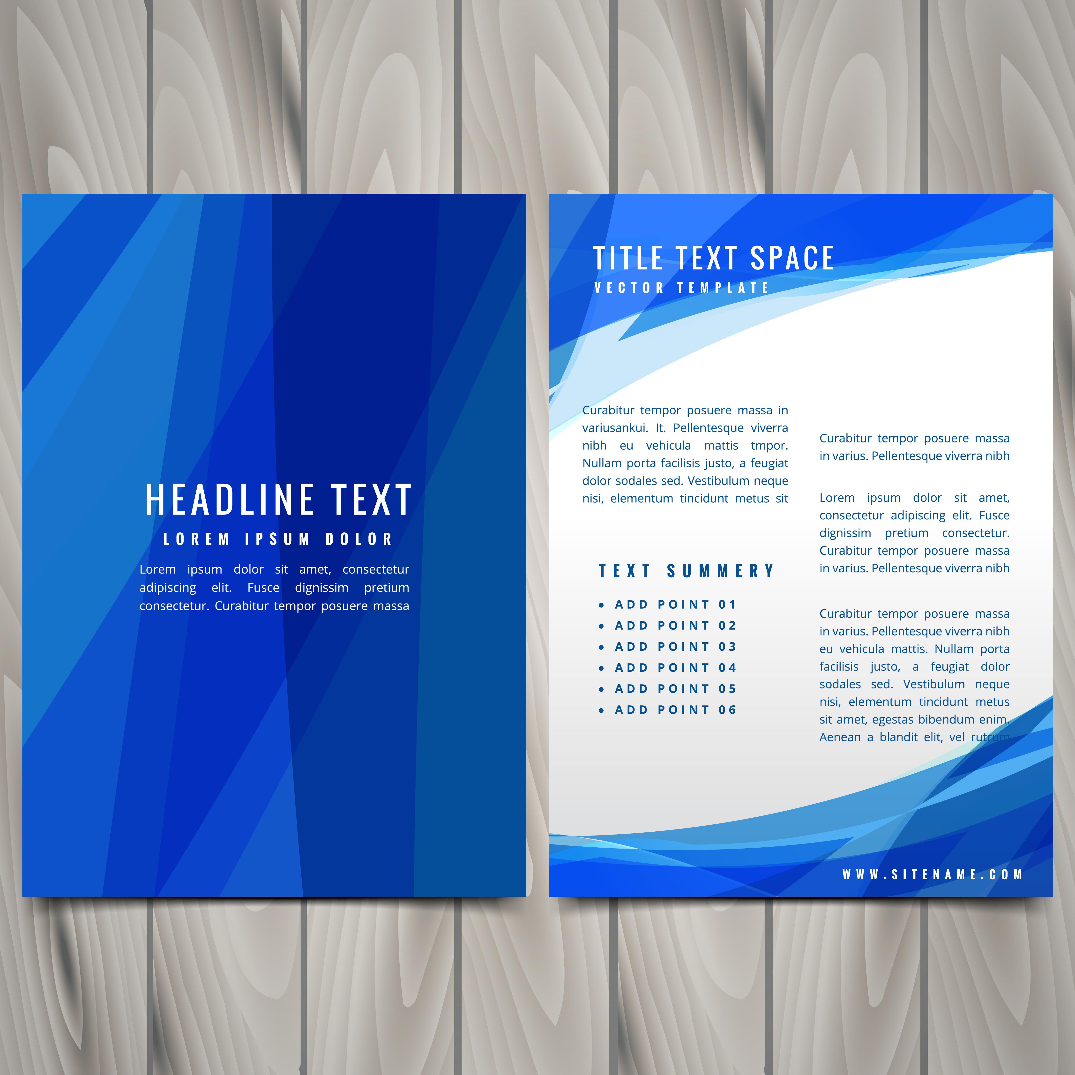 blue abstract brochure flyer design illustration