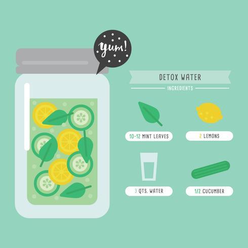 Entgiftung Wasser Rezept