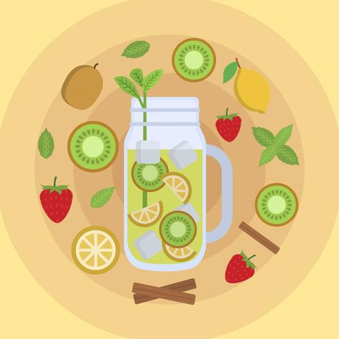 Flat Detox Vector Illustration