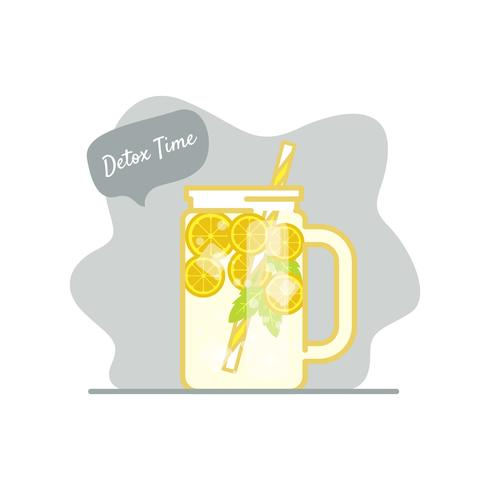 Detox time illustration