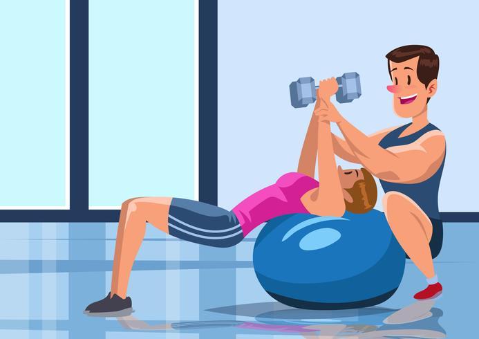 Stilvoller Fitnesstrainer