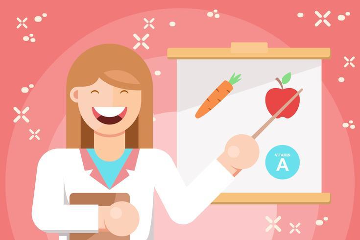 Illustration de nutritionniste gai