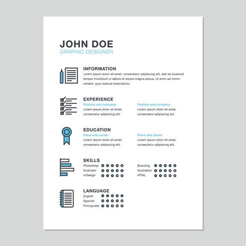 Currículum de diseñador minimalista