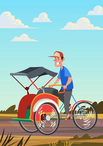 Trishaw rijden
