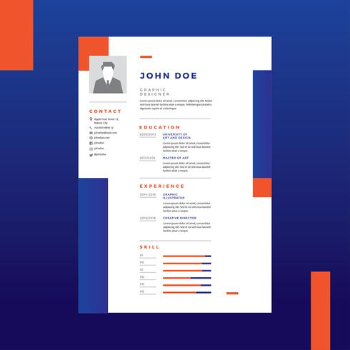 graphic designer resume vector - Graphic Designer Resume